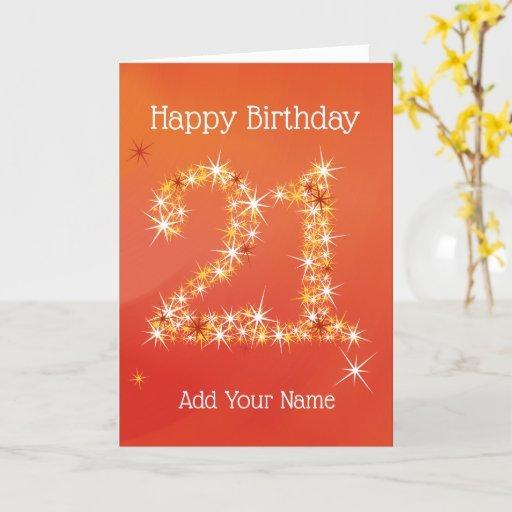 21 in Stars - 21st Birthday Card