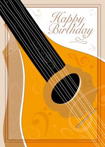 Bouzouki Musical Instrument Art Birthday Card