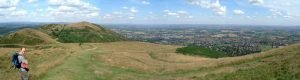 Malvern Hills panoramic photograph - 5 photographs stitched together in Photoshop