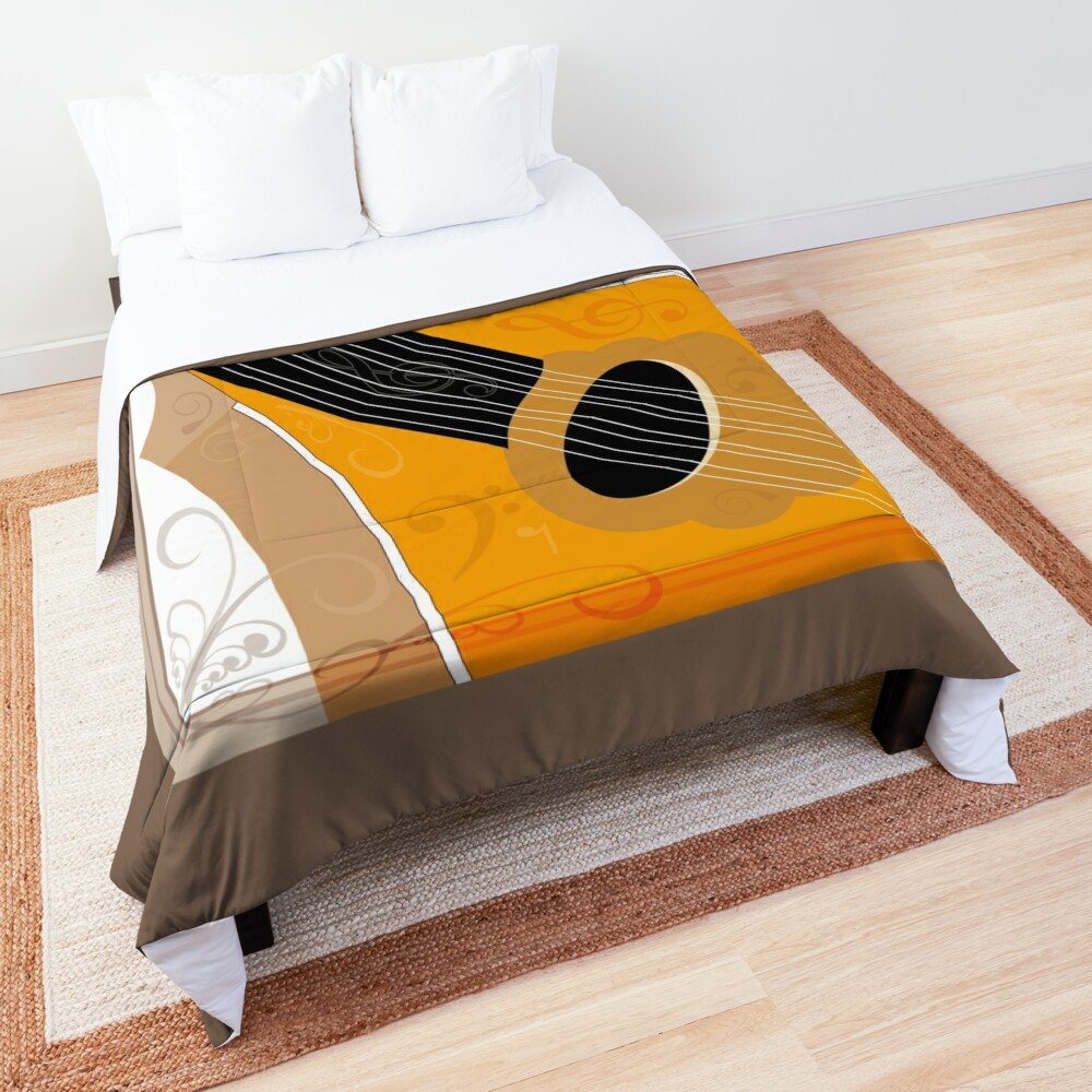 Bouzouki Musical Instrument Art Comforter/Quilt. Buy it at the Redbubble Shop.