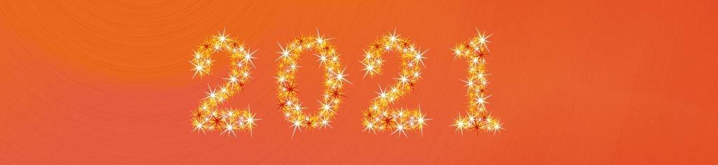 2021 in stars - star number Illustrator vector art
