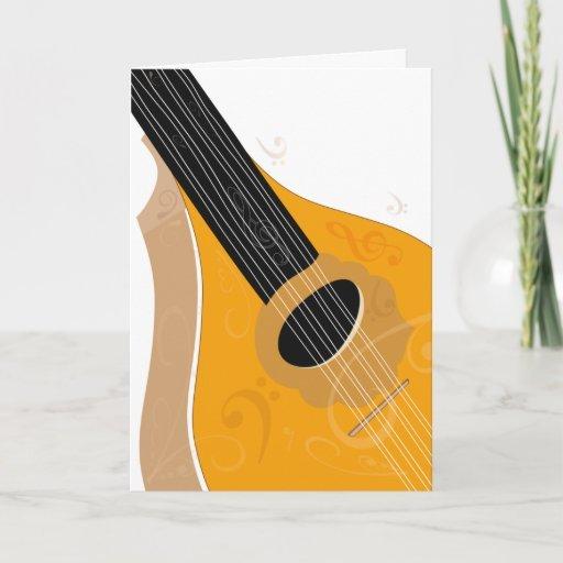 Bouzouki musical instrument art card