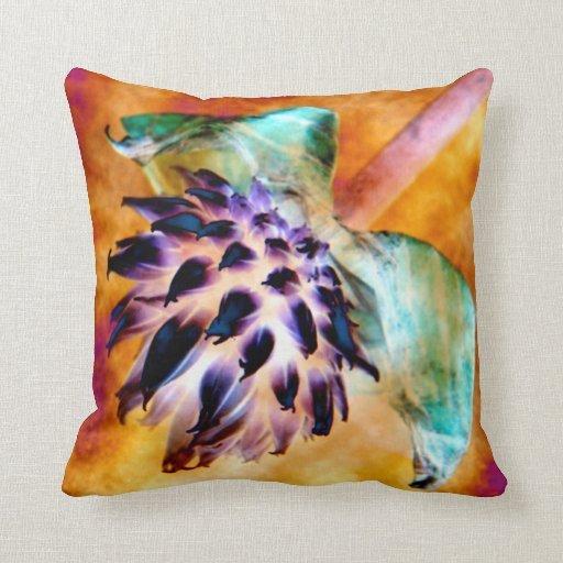 Golden Chive Flower Photo-Art Cushion