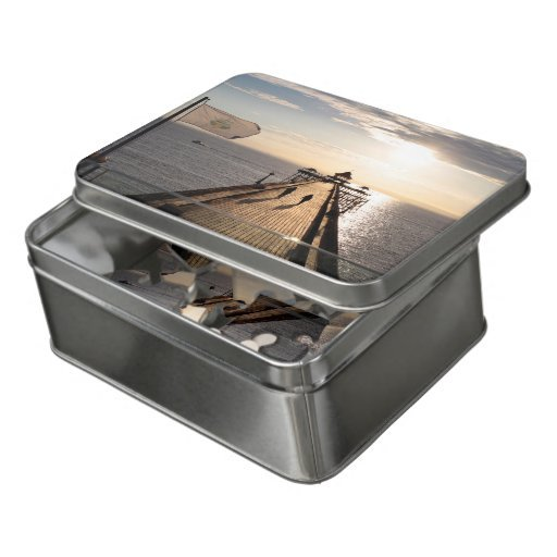 Clevedon Pier at Sunset - Jigsaw in a tin