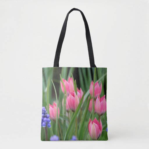 Pretty Pink Tulips Tote Bag